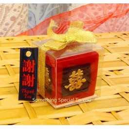DOUBLE HAPPINESS CANDLE - as low as RM3.40/pc