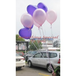 5 Round & 5 Hearts Floating Balloon (Self-collect)