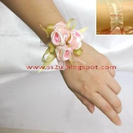 Pink Floral Wristband