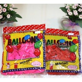 Heart Shaped Balloon (No Air) - 100pcs/pk
