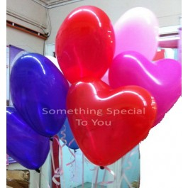 10 Hearts Shaped Floating Balloon (Self-Collect)