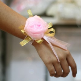 Bride's Maid Wristband (Pink)