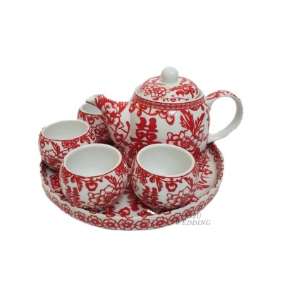 Peony Papercut Teaset Exclusive Edition