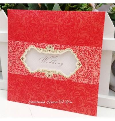 East Meet West Wedding Invite (Hard Envelope Type)