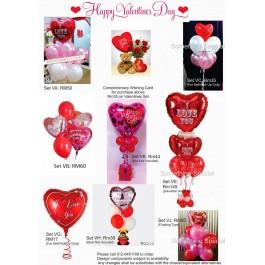 Valentine's Day Balloon Set