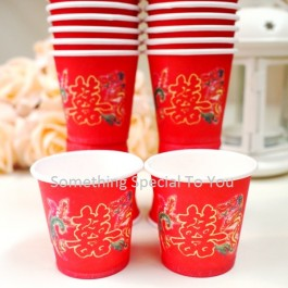 Tea Ceremony Paper Cup (50pcs) | Disposable Cup | Wedding Papercup