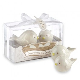 """FEATHERING THE NEST"" SALT & PEPPER SHACKER - as low as RM4.10/set"