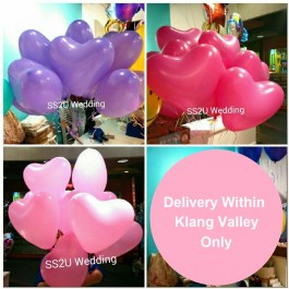 Heart Shaped Balloon (30pcs)