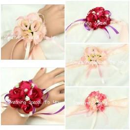 10PCS Flower Wristband (Maroon/ Purple/ Pink/ Light Pink)