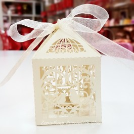 Love Bird Cage Favor Box (Cream) - as low as RM0.70/pc