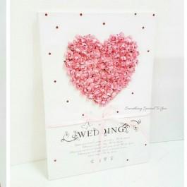 3D Pink Heart Guestbook