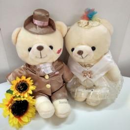 Romantic Champagne Wedding Bears
