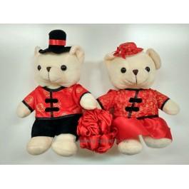 Wedding Bears In Chinese Costume