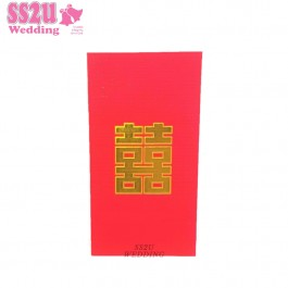 (6pcs) Red Square Hei Angpow Packets L Size