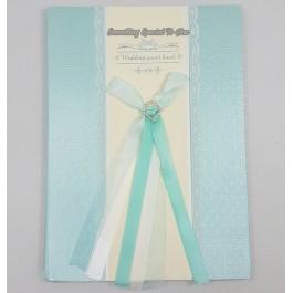 (Tiffany Blue) Lace Wedding Guest Book