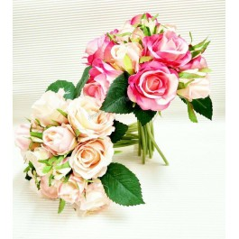 Elegant Hand Bouquet (Champaign/Pink/White)