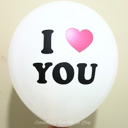 I Heart You Round Balloon (12;)