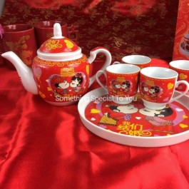 Kiss Teaset Red