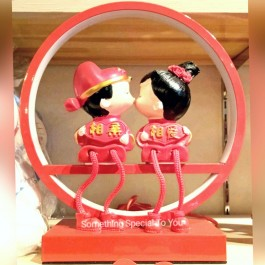 Wedding Lamp: Kissing Couple