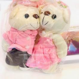 PINKISH COUPLE WEDDING BEAR