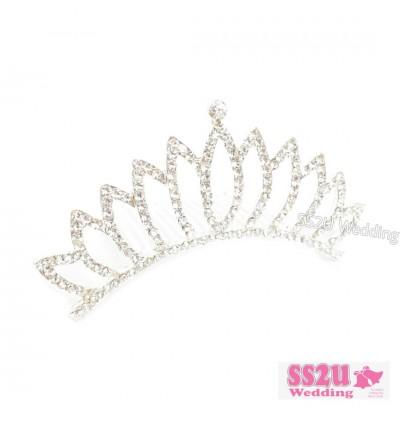 (Ready Stock) Women Girls Elegant Wedding Bride Crown Headwear Rhinestone Tiaras Cute Gift