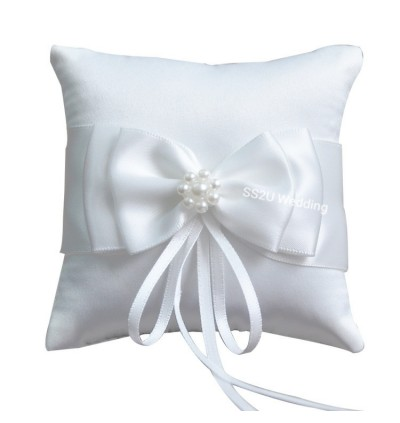 White Lace Wedding Ring Pillow Bridal Ring Bearer Pillow Cushions Wedding Marriage Ceremony Decorations