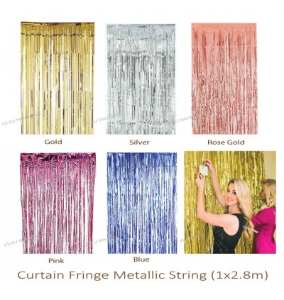 Foil Fringe Metallic Curtain, Tinsel Backdrop, Shimmer Foil Rain Curtain for Birthday Party Photo Backdrop Wedding