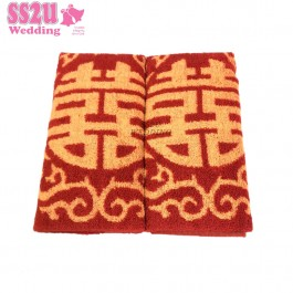 Big Hei Face Towel Red
