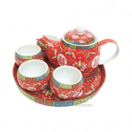 Waterlily Red Teaset