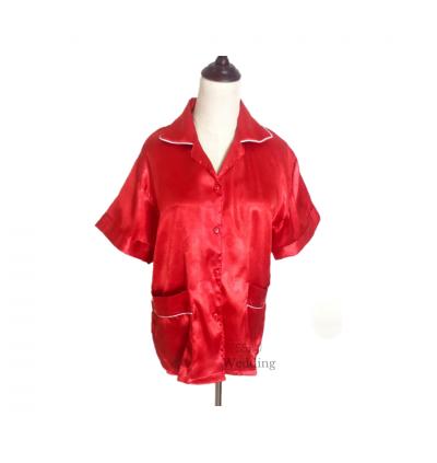 Red Ladies Pyjamas (Plain)