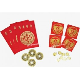 4Pcs Bed Setting Coin Set And 4Pcs Fate Coin