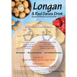 Red Dates & Longan Tea Instant Natural (15g x 10's)