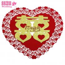 30CM HEI WORD 6614 HEART ROSES (GOLD SERIES)